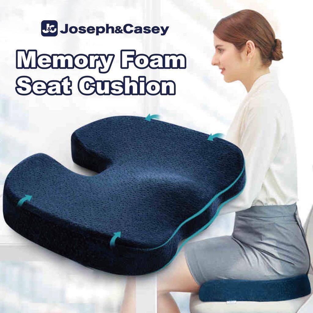 Comfort 100% Pure Memory Foam Seat Cushion, Orthopedic Design for Back, Hip, Tailbone, Sciatica & Coccyx Pain