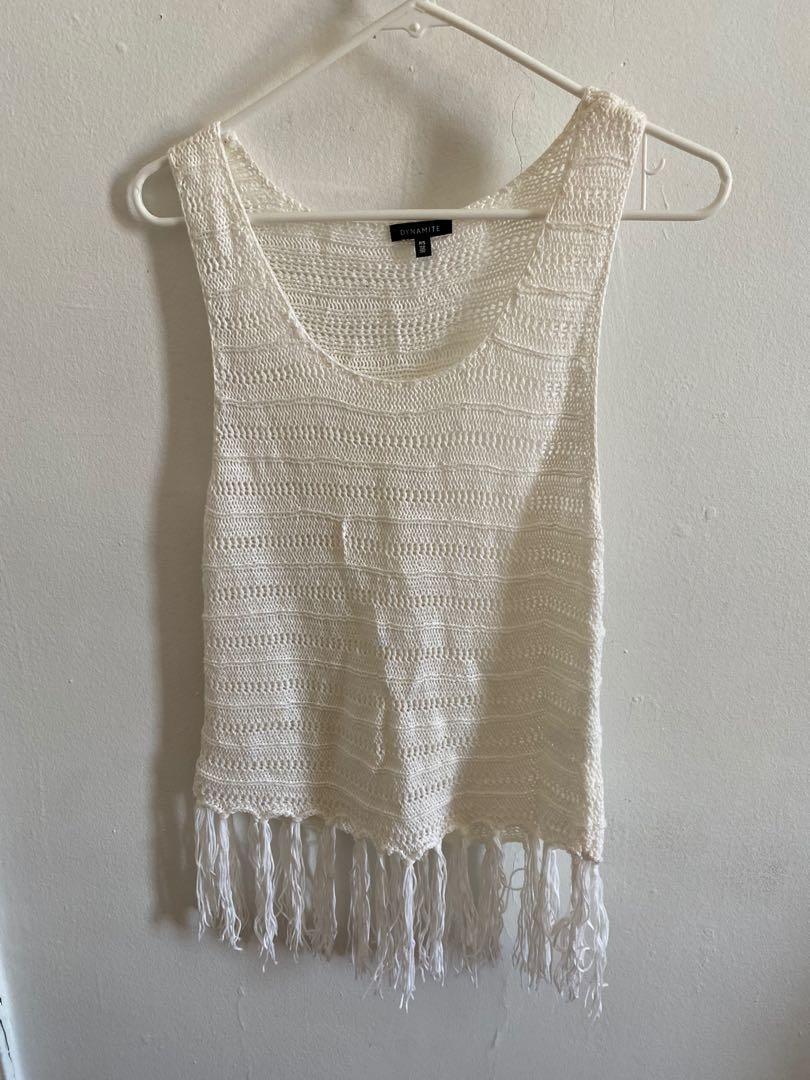 Dynamite Crochet Top, Barely Worn