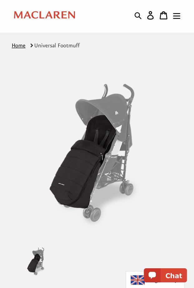 EUC Maclaren stroller universal footmuff / winter cover