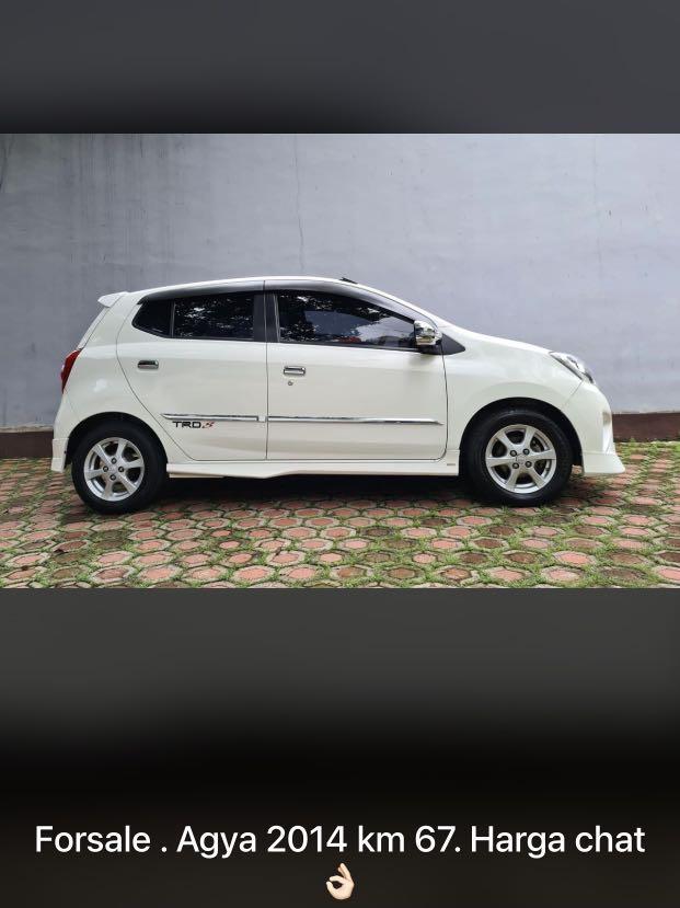 For sale!!! Mobil agya tahun 2014 putih automatic