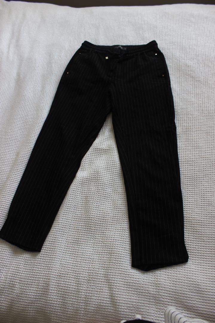 Glassons Black striped dress pants