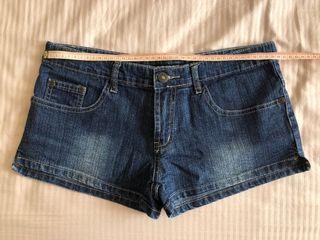 Hipster denim mini shorts