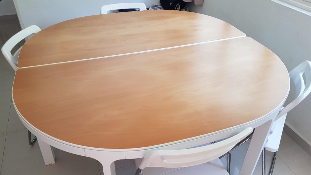 Ikea Bekant Study Dining Table, Half Circle Table Ikea