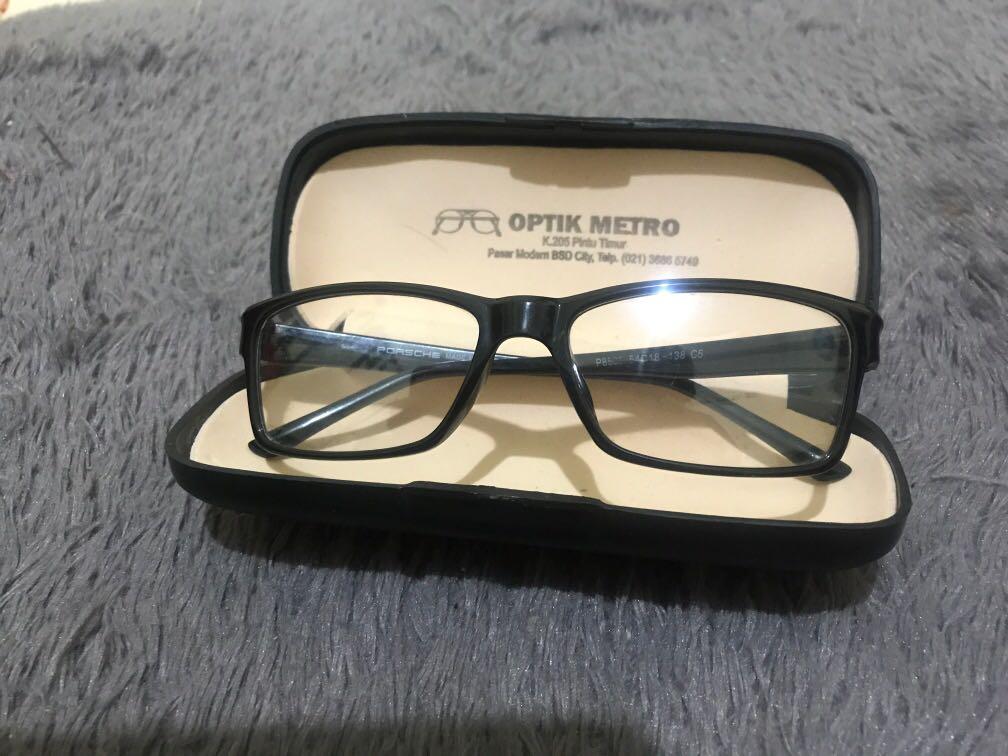 Kacamata Fashion Hitam Normal