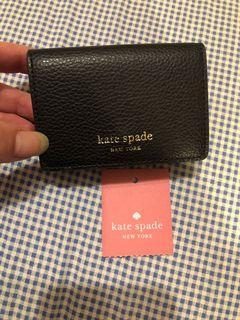 美國🇺🇸買的Kate Spade 黑色牛皮3折小短夾