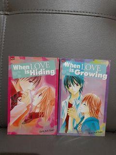 [KOMIK KOLPRI] WHEN LOVE IS HIDING & WHEN LOVE IS GROWING (1 SET)