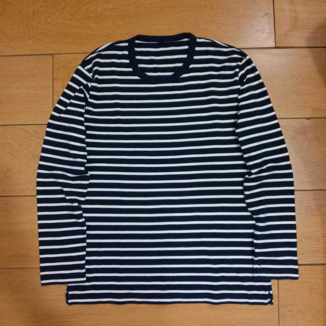 Longsleve uniqlo stripe kaos t-shirt