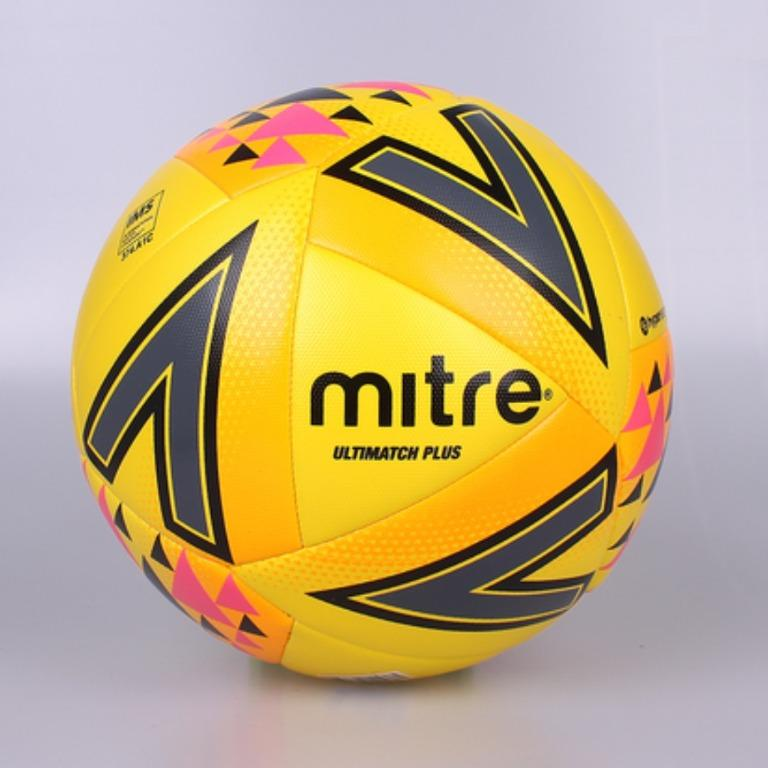 Mitre Ultimatch Plus Hyperseam Soccer Ball (Yellow)