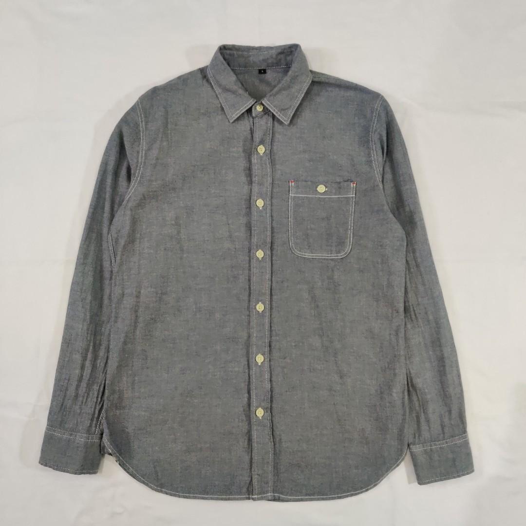 Muji Ash Grey Chambray Shirt