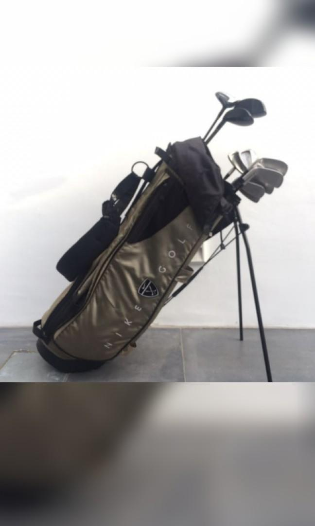 Nike Golf Bag and Full Set Dunlop Clubs