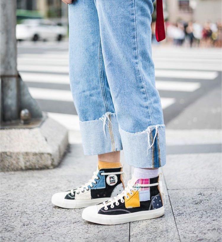 PRO-Keds x FootPatrol 英國 Royal Hi canvas  patckwork 拼貼 貼布 高筒 硫化鞋 帆布鞋 kith Noah converse vans Nike