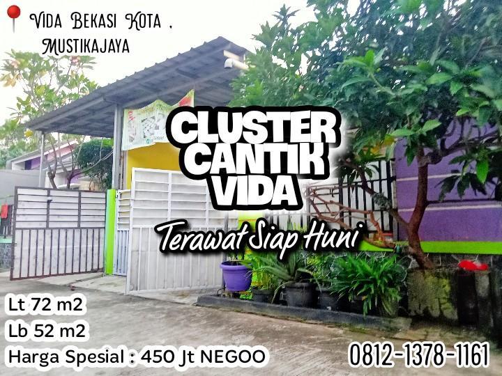 Rumah Cantik Bekasi Kota VIDA Mustikajaya Siap Huni