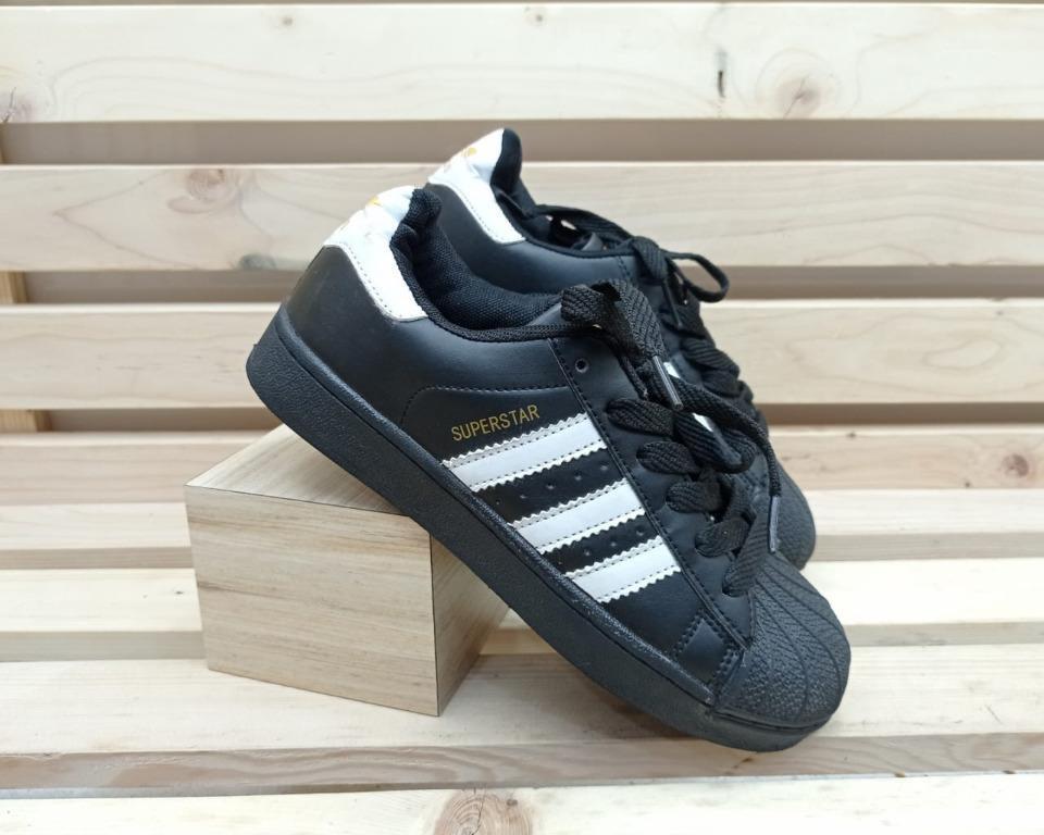 Sepatu Adidas Superstar Black White Original