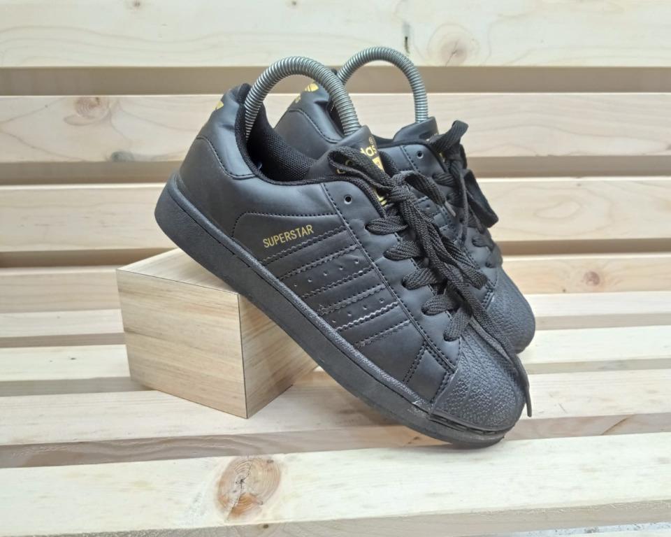 Sepatu Adidas Superstar Full Black Hitam