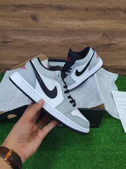Sepatu Nike Air Jordan 1 Low Light Smoke Grey Original 100% BNIB