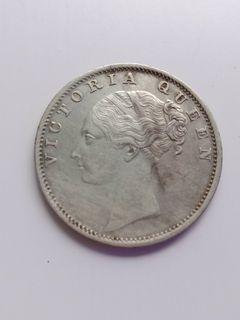 1840 QUEEN VICTORIA EAST INDIA COMPANY 1 RUPEE SILVER COIN