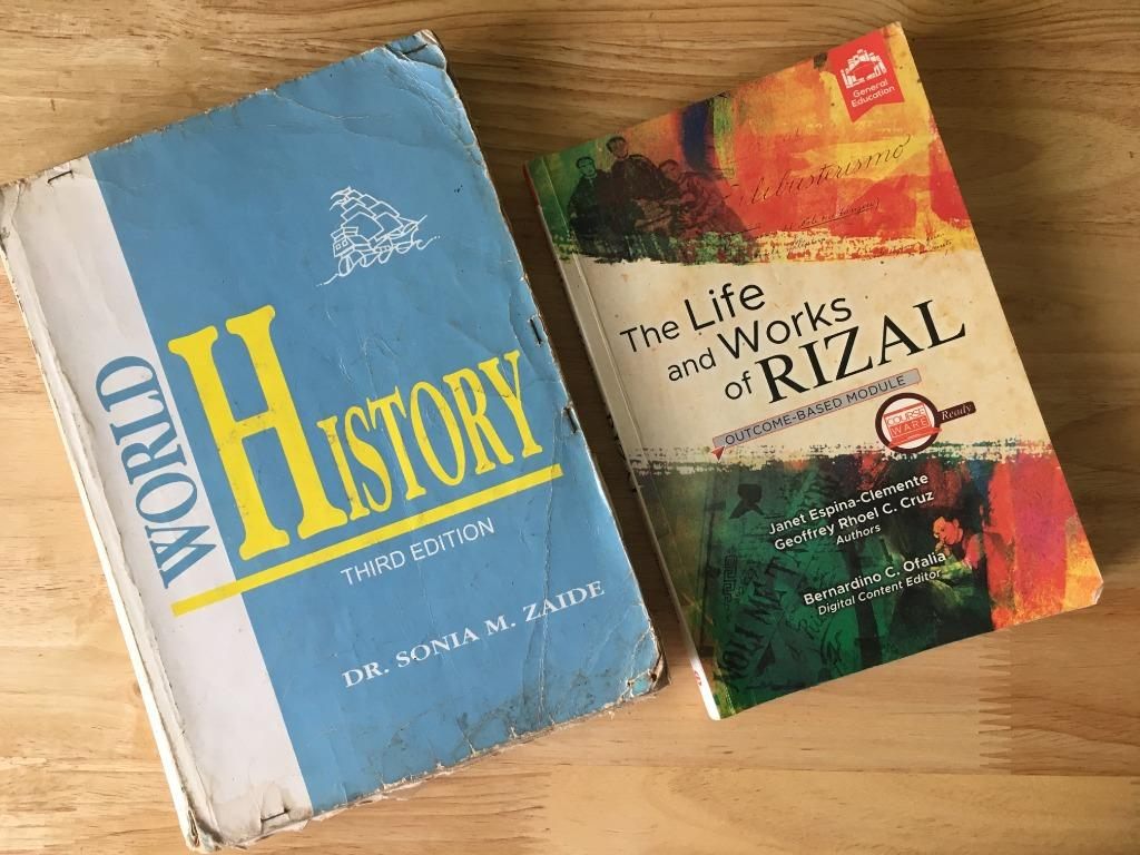 The Life and Works of Rizal and World History Book