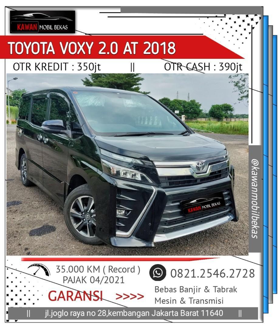Toyota Voxy 2.0 A/T 2018 Hitam TDP 47kt Kondisi Istimewa Bergaransi Dan Dijamin Siap Pakai