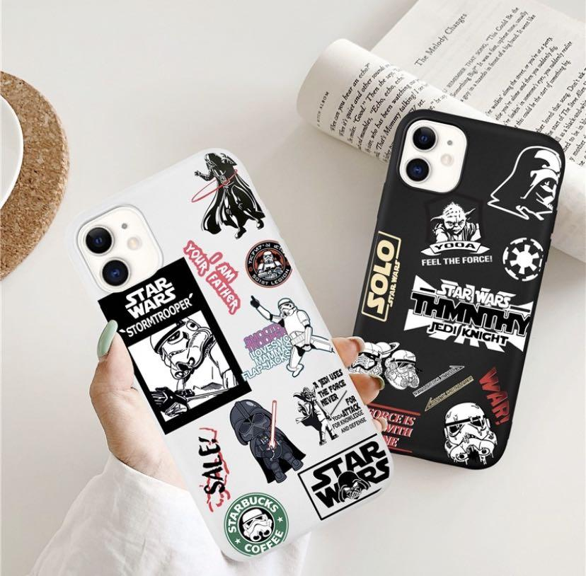 Treding Desing Cartoon Star Wars Pattern Matte Soft CASE IPhone 11 11Pro 11ProMax 6 6s 7 8 X XS XR XSMAX SE(2020)