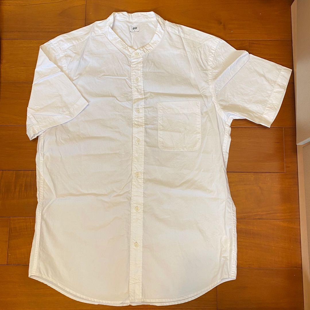 【不藏私】 Uniqlo無領白襯衫 簡約 日系 文青風格必備