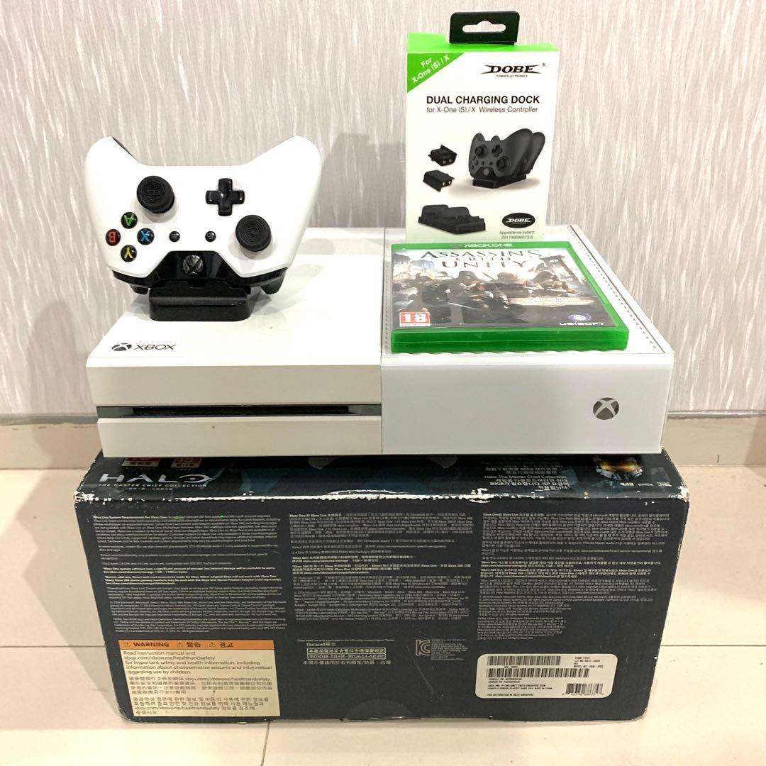 Xbox One 500gb Full Game Online Putih + Bonus