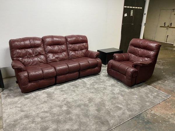 3 Seater and Armchair Leather Recliner Couch Set - DElivery Free!!!