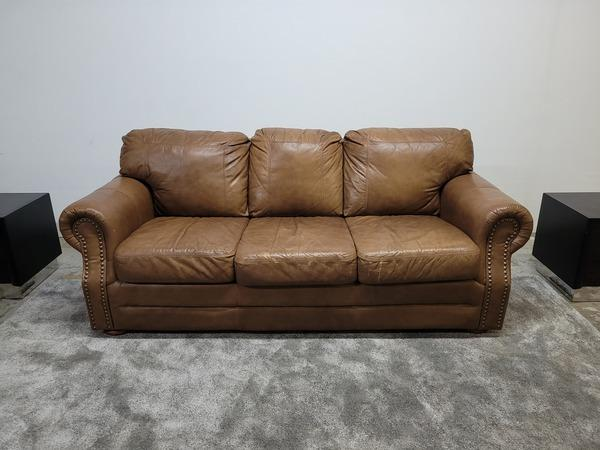 3 Seater Authentic Leather Couch - Delivery FREE!