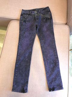 專櫃品牌紫色雪花牛仔褲