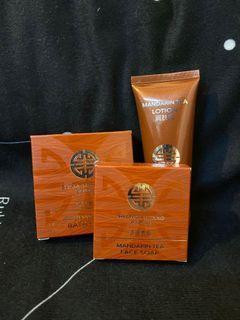 上海灘❤️護理套裝    香噴噴!Mandarin Tea 香橘茶味❤️ 潔面番梘,沐浴番梘,潤膚露  👍🏻 Shanghai Tang Face Soap 30g + Body Soap 50g +  Body Lotion 35