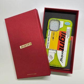 Casetify iPhone 12 mini Kunel Gaur 螢光黃保護殼含禮盒