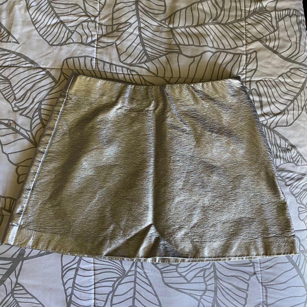 Glassons metallic short skirt