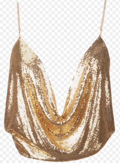 Gold backless top