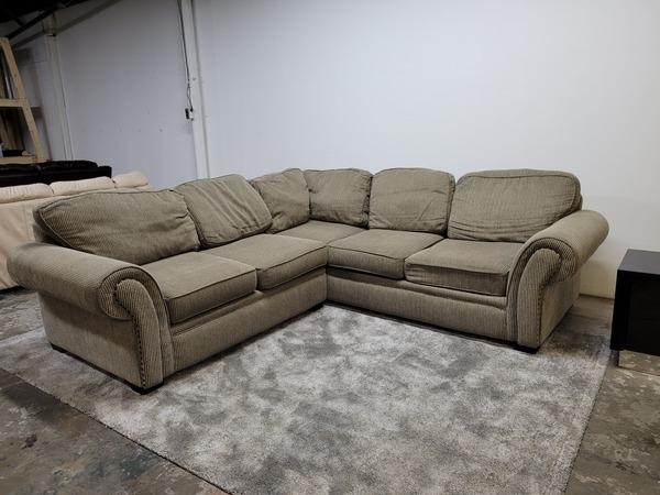 L Shape Corduroy Sectional Couch- Delivery Free!!!