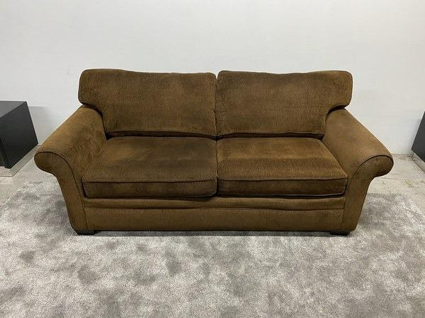 Loveseat Brown Microfiber Couch - $150