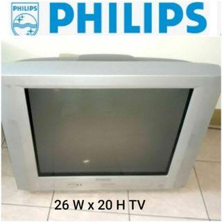 Original Philips Colored TV 26inW x 20inH working tv