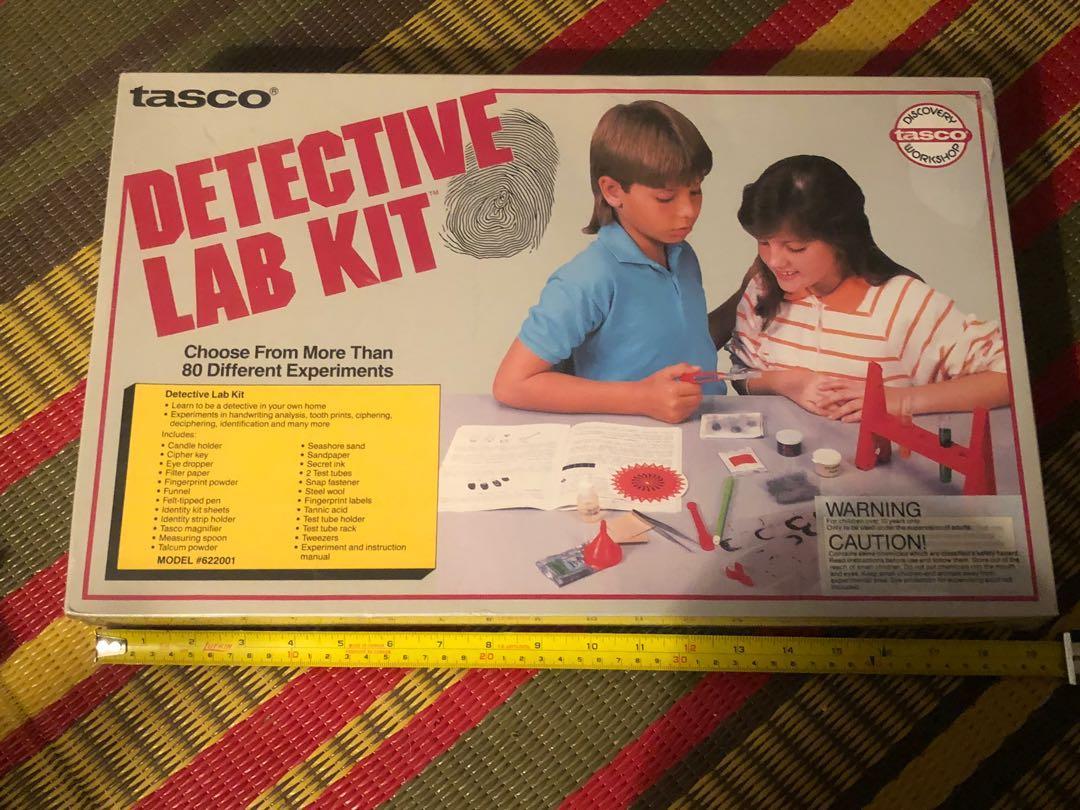 RARE NEW VINTAGE 1989 Tasco Detective Lab Kit toy