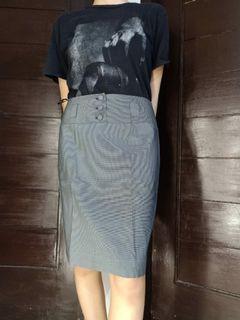 #salefeb Grey Skirt / Pattern Skirt / Rok / Midi Skirt