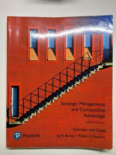 Strategic Management and Competitive Advantage: Concepts and Cases 6e 企業政策用書 無筆記
