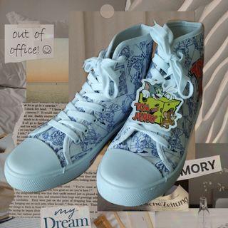 Tom and Jerry 湯姆貓與傑利鼠 高筒帆布鞋 帆布鞋 #防疫