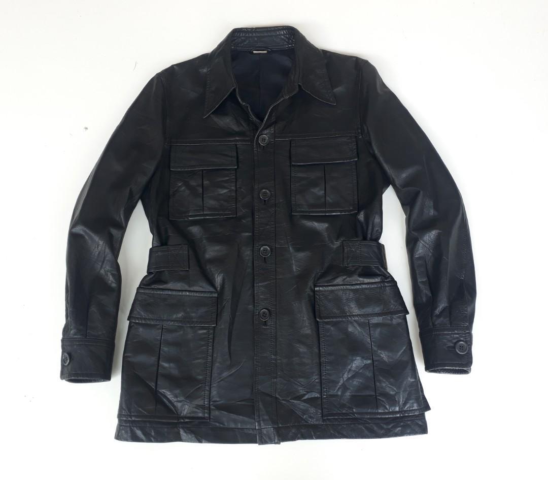 D'URBAN INTERMEZZO Genuine Leather Outer Parka Style Jacket
