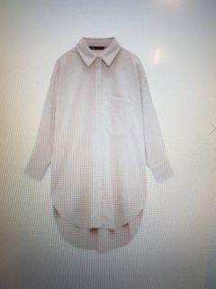 Zara_oversized button down long shirt
