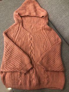 連帽針織毛衣