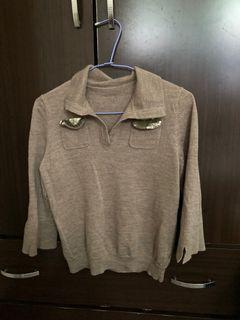 近全新 短版五分袖毛衣