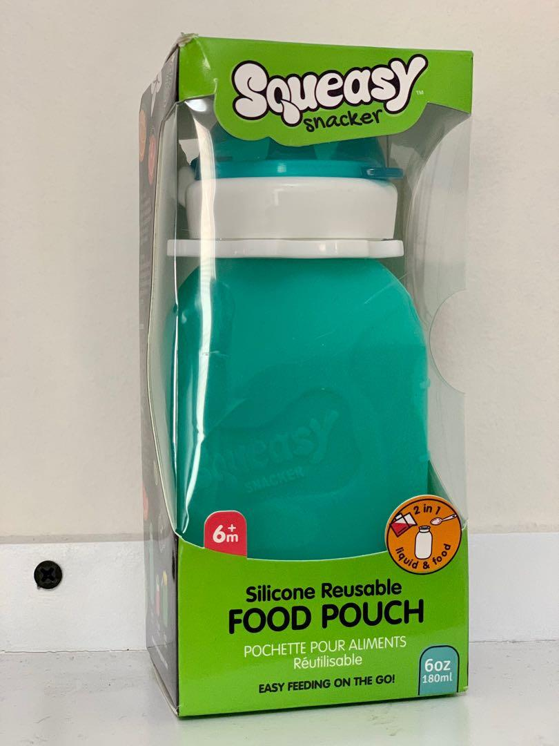 Brand new silicone reusable food pouch for infants