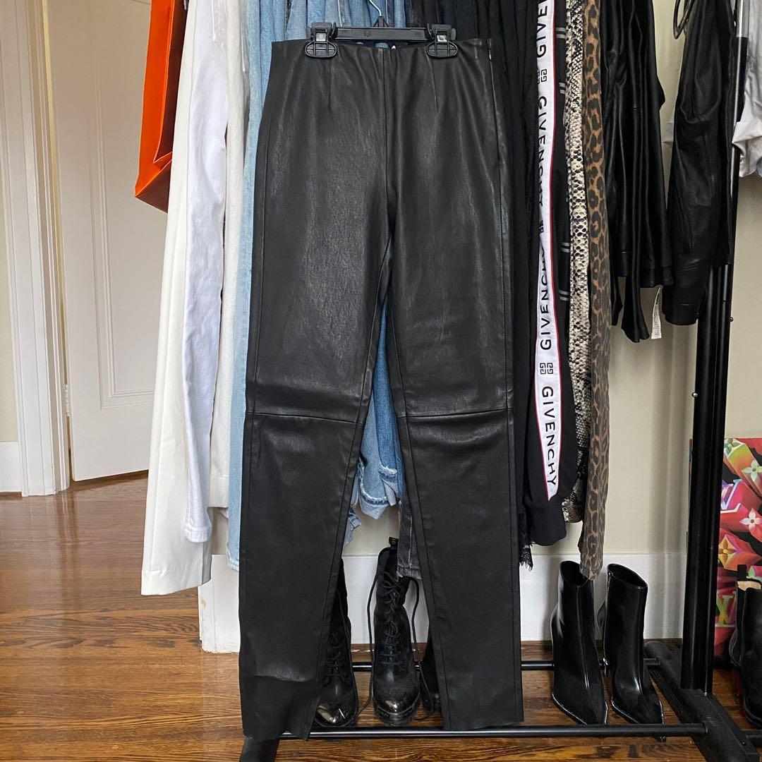 COS Black leather leggings