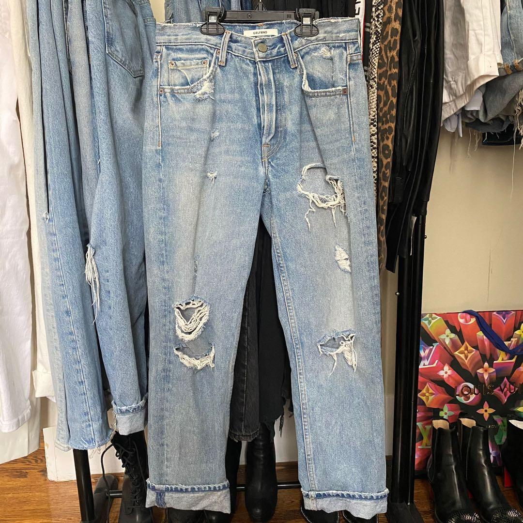 GRLFRND Denim jeans with rips
