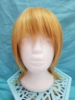 Hair Wig Cosplay Medium Shirt Golden