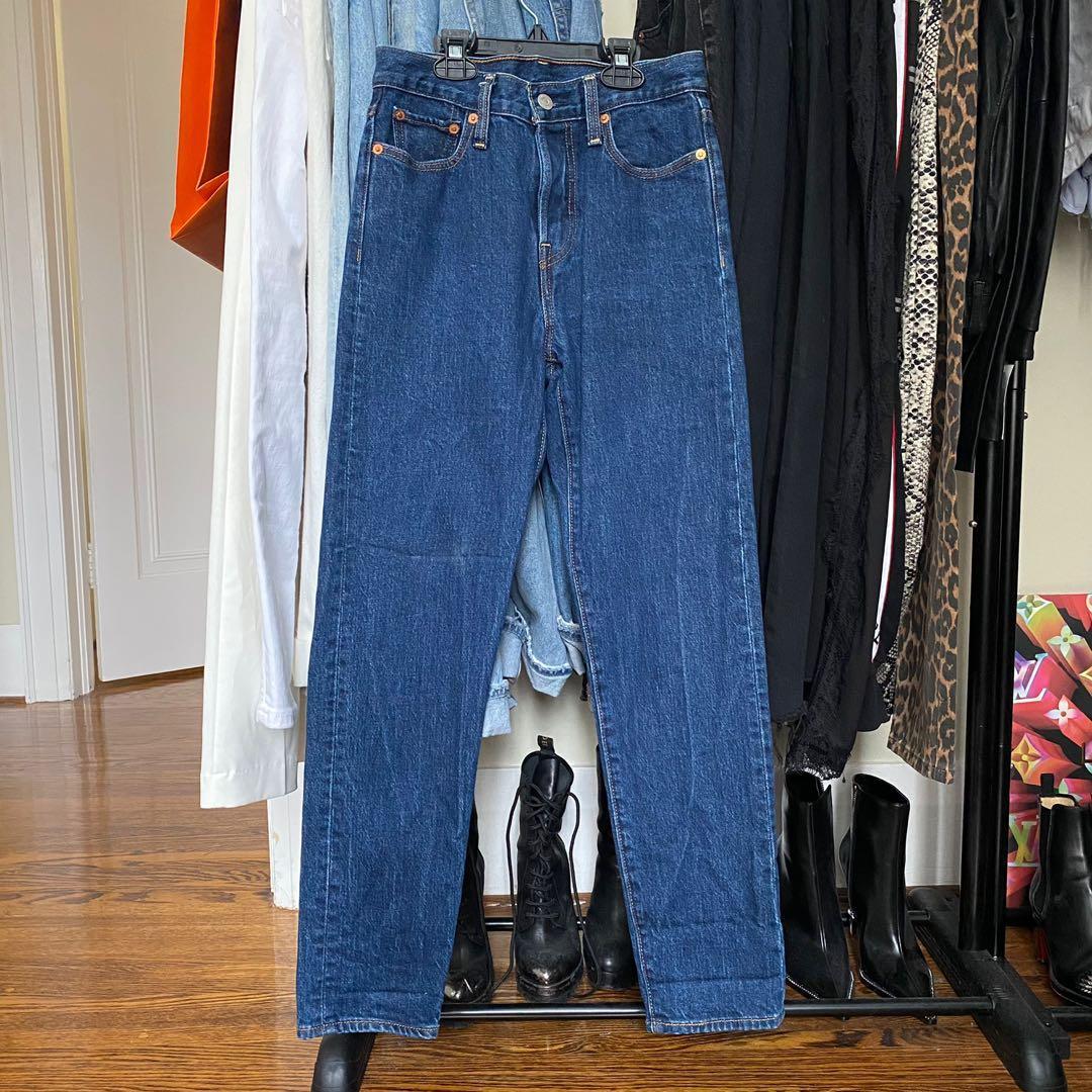 Levi's wedgie fit jeans dark wash
