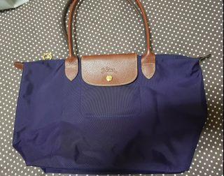 longchamp紫色尼龍側背包