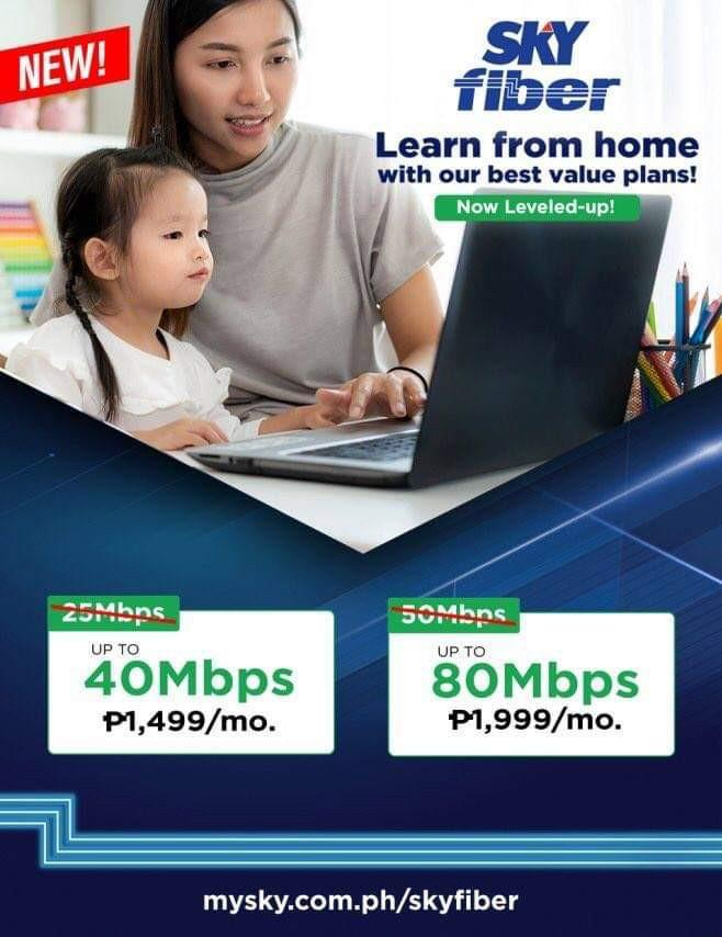 SKY cable internet Wifi40mbps
